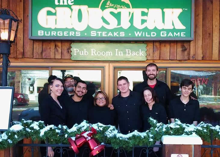 grubsteak staff at christmas